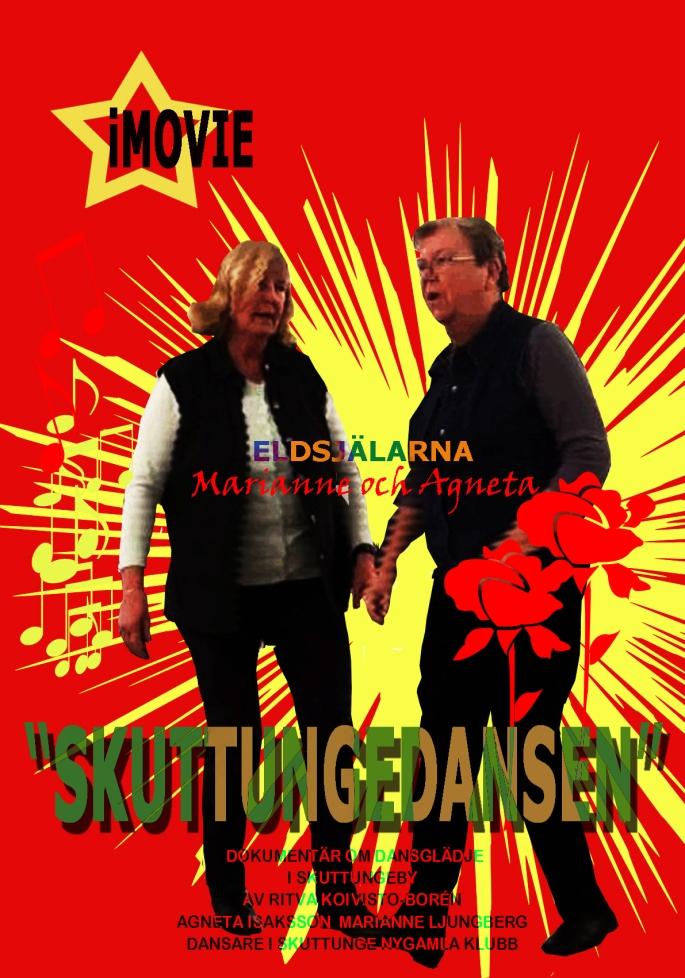 Agneta och Marianneröd-svart text